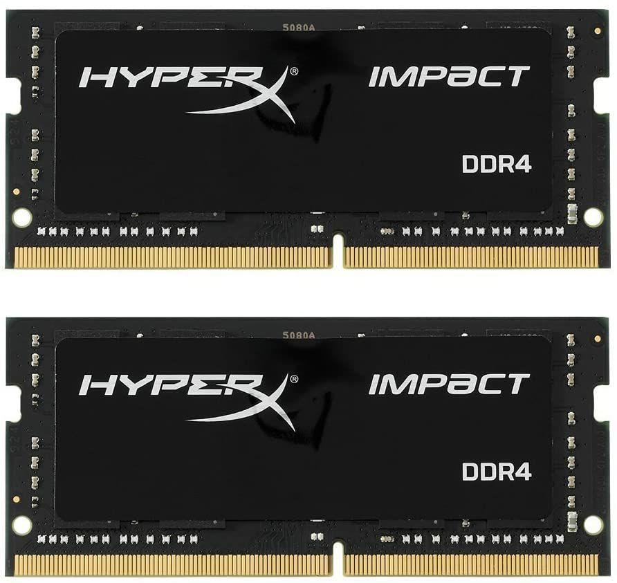 HyperX Impact SO-DIMM DDR4 - 16GB (2×8), 2666MHz, CL15 (Amazon)