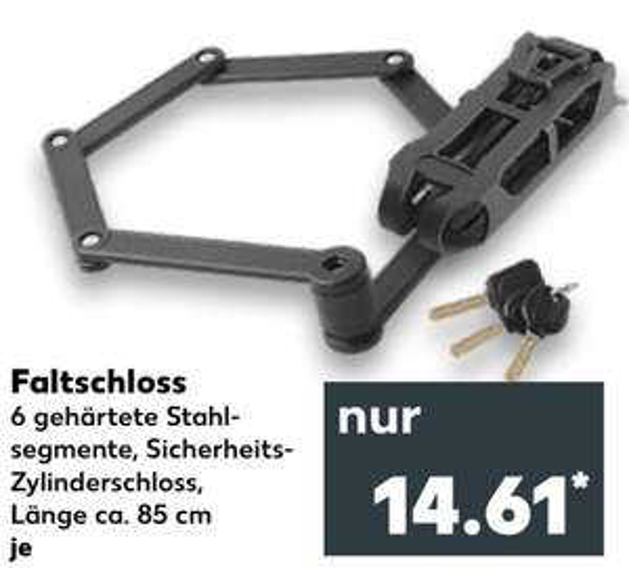 [Kaufland Do-Mi] Faltschloss inkl. Halterung für 14,61€