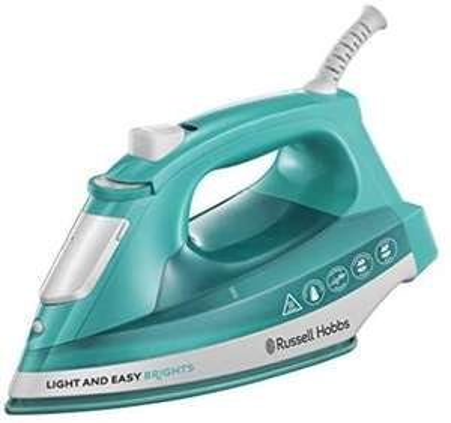 Russell Hobbs 24840-56 Dampfbügeleisen Light & Easy Aqua, 2400 Watt, Keramik-Bügelsohle, automatischer Dampf, aqua [Amazon Prime]