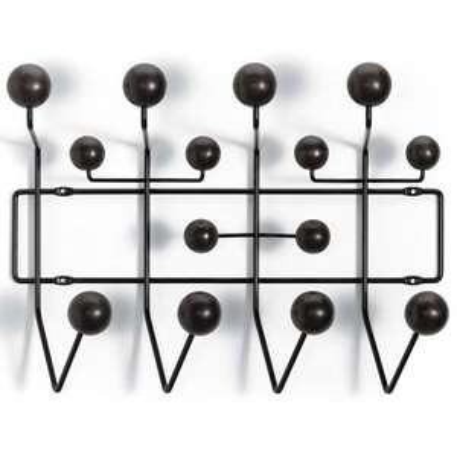 VITRA Hang it all - Designer-Garderobe (mit 10% NL-Gutschein) Farben: Schwarz, Walnuss oder Kiefer (Eames)