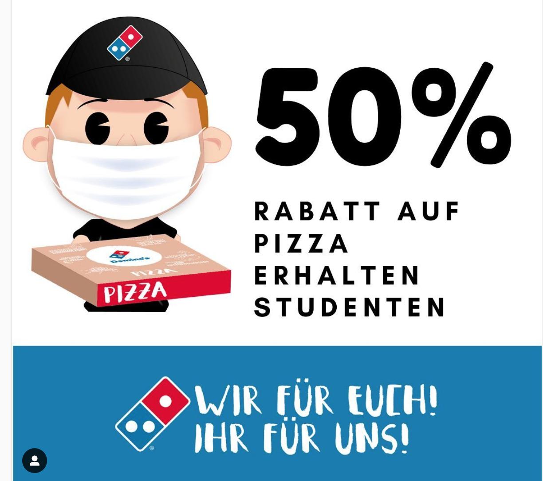 50% Abholerrabatt auf Pizza für Studis in Köln