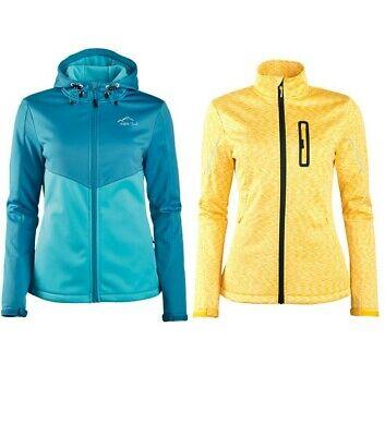 CRIVIT® Damen Softshelljacke Trekking Softshell Jacke Sportjacke Gelb oder Türkis