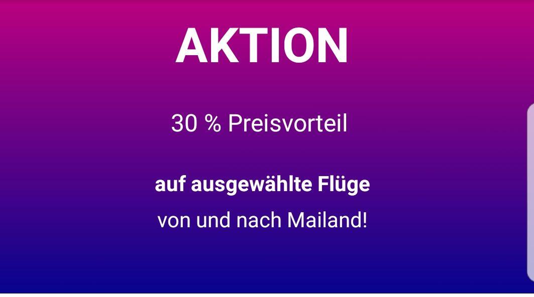 [Wizz Air] 30% auf Flüge von und nach Milano/Mailand Malpensa