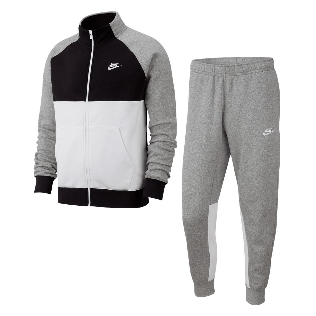 Nike Trainingsanzug Sportswear CE Track Suite Fleece dunkelgrau/schwarz (Gr. S-XL)