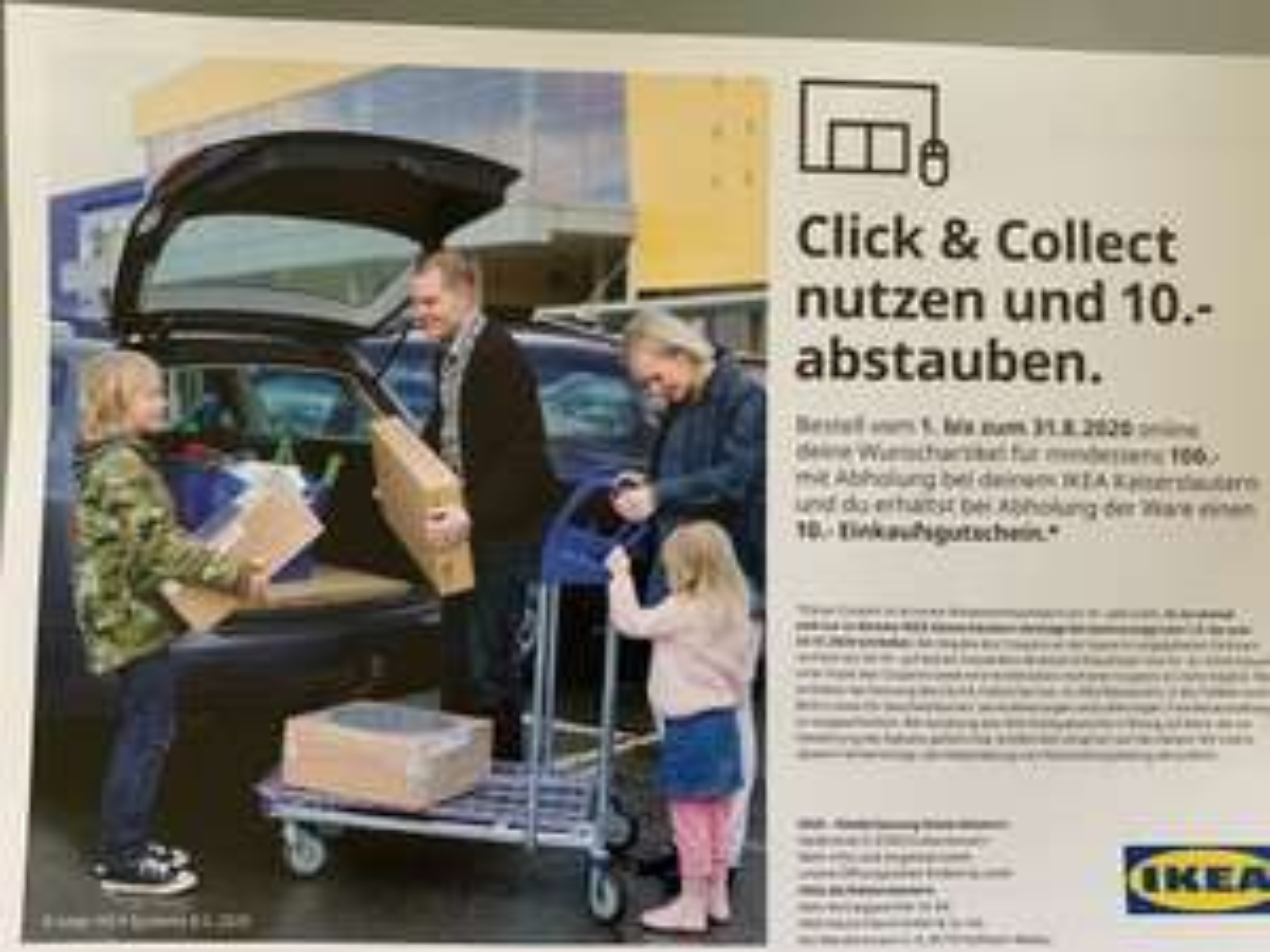Lokal IKEA Kaiserslautern Click & Collect 10€ Gutschein ab 100€ Einkauf