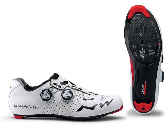 Rennrad Schuh Northwave Extreme GT 2 in Weiß - (2x Drehverschluss / Carbonsohle)