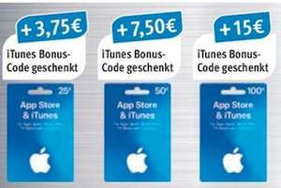 15% Extra-Guthaben für Apple iTunes & App Store [Rossmann & Netto MD]