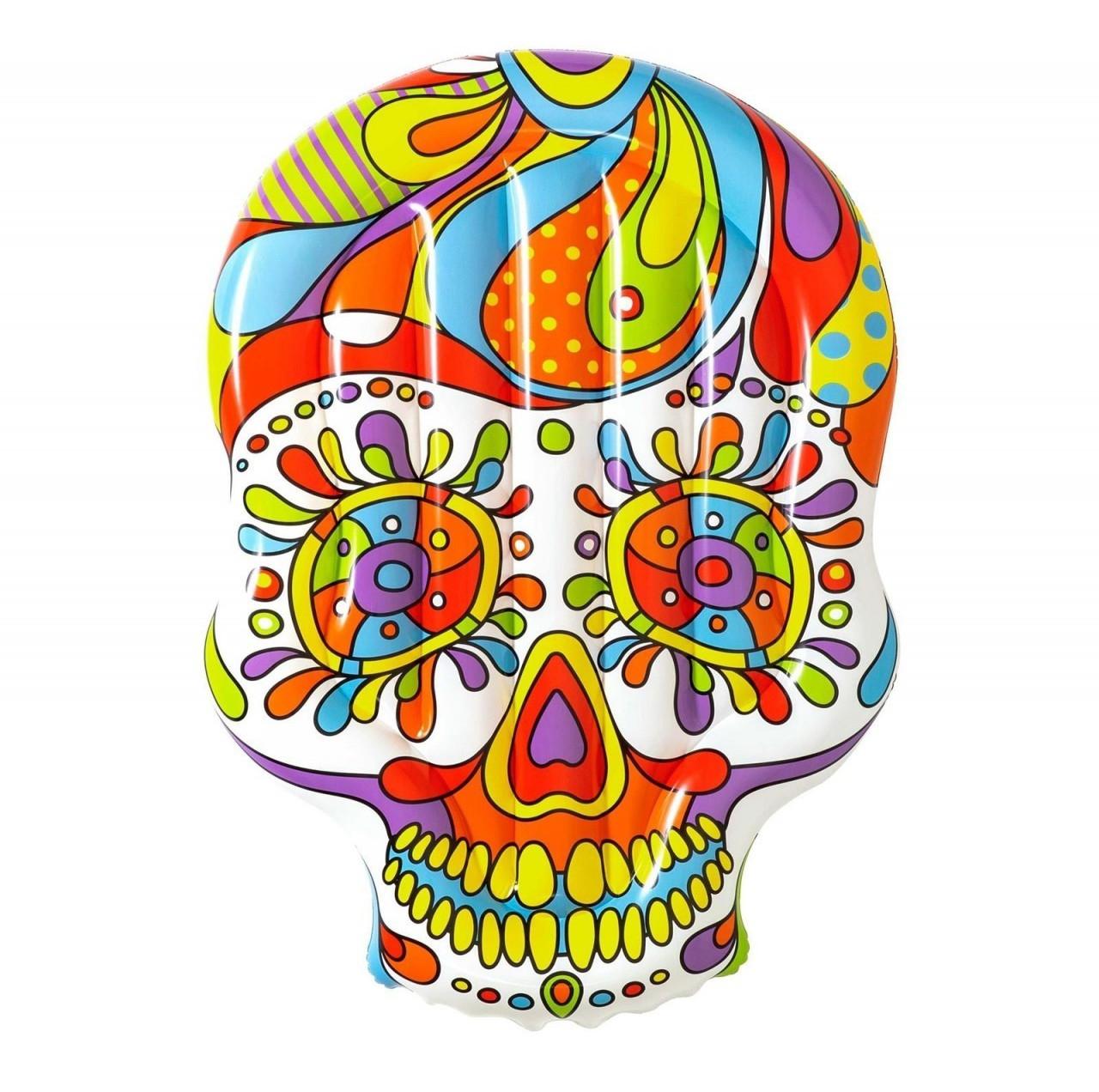 """Bestway Luftmatratze """"Fiesta Skull"""" (190x139x18cm, bis 90kg geeignet, inkl. Reparaturflicken)"""