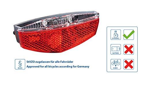 Büchel LED Gepäckträgerrücklicht Tivoli, Standlichtfunktion, schwarz, 50752 @Amazon Prime