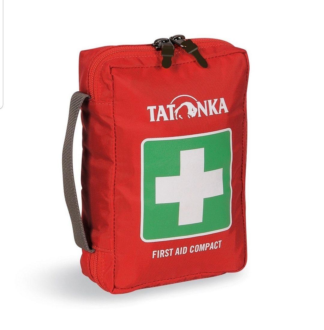 Tatonka First Aid Compact | Erste Hilfe Tasche | inkl. Leukoplast | Farbe: Rot | Nischendeal