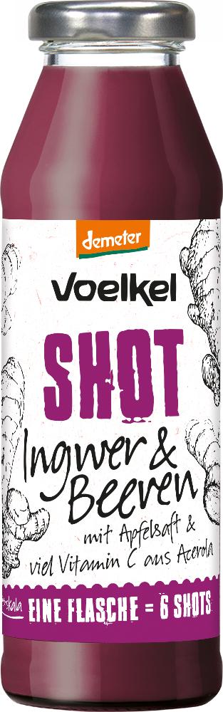 Voelkel Ingwer Shots à 280 ml in versch. Sorten [Denn`s Biomarkt]