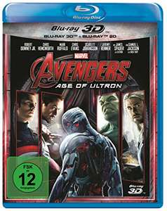 The Avengers 2: Age of Ultron 3D (Blu-ray 3D + Blu-ray) für 9,99€ (Amazon Prime)