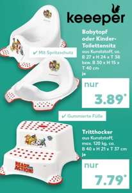 [Lokal Kaufland] Keeeper Kids Kinder-Toilettensitz Paw Patrol