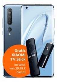 Xiaomi Mi 10 128GB + Mi TV Stick im Vodafone Otelo (20GB LTE, Allnet/SMS) mtl. 29,99€ einm. 4,95€, nach HW-Verkauf eff. mtl. 10€