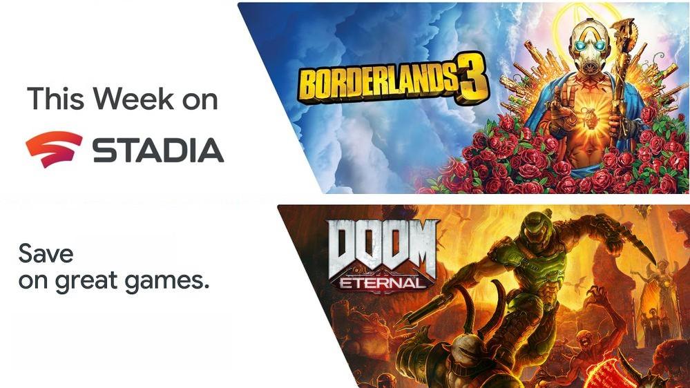 [Google Stadia] Borderlands 3 freies Wochenende und Bethesda publisher sale mit DOOM Eternal