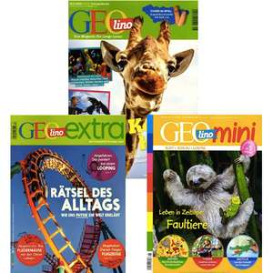 GEO Kindermagazine im Abo mit Rabatt: GEOlino für 34,10€   GEOlino extra für 28,60€ statt 48€   GEOlino mini für 33,22€ statt 54,60€