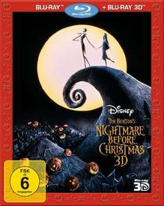 Nightmare before Christmas 3D (Blu-ray 3D + Blu-ray) für 9,99€ (Amazon Prime)