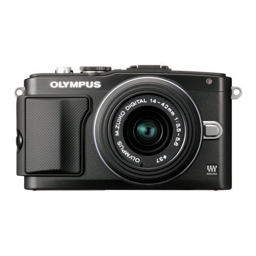Olympus PEN E-PL5 Systemkamera (16 Megapixel, 7,6 cm (3 Zoll) Touchscreen, bildstabilisiert) Kit inkl. 14-42 mm Objektiv schwarz für 585,04 Amazon.es
