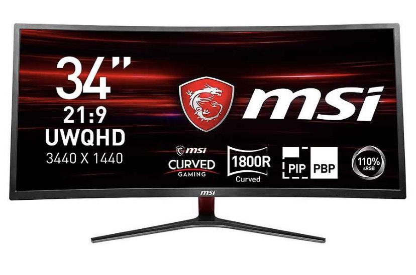 MSI LED-Monitor (3440x1440, UWQHD, 8 ms Reaktionszeit, 100Hz)