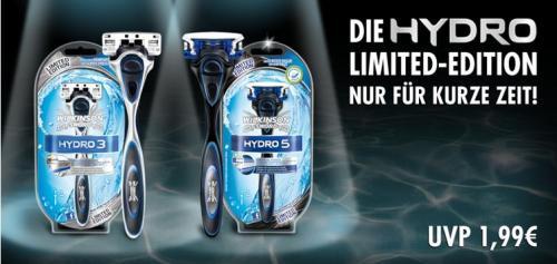 Wilkinson Hydro 3 und 5 für je 1,99€ in limitierten Farben, deutschlandweit!