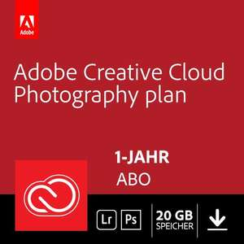 Adobe CC Photography (Photoshop CC, Lightroom Classic & CC, Bridge), 1 Jahr Abo
