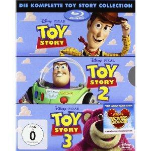 Toy Story 1 / Toy Story 2 / Toy Story 3 [Blu-ray] für 24,49€ @ CeDe.de