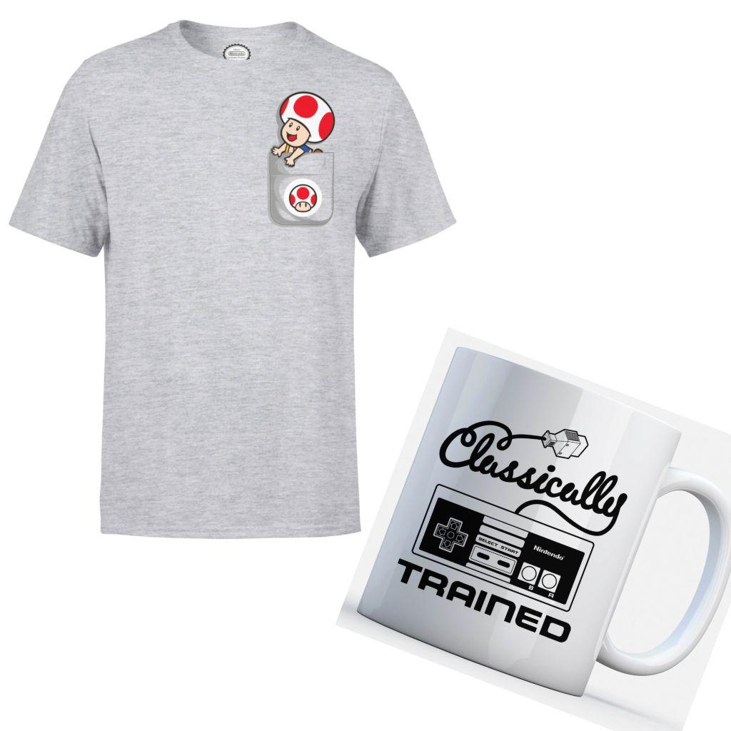 Nintendo Bundles aus Tasse + T-Shirt