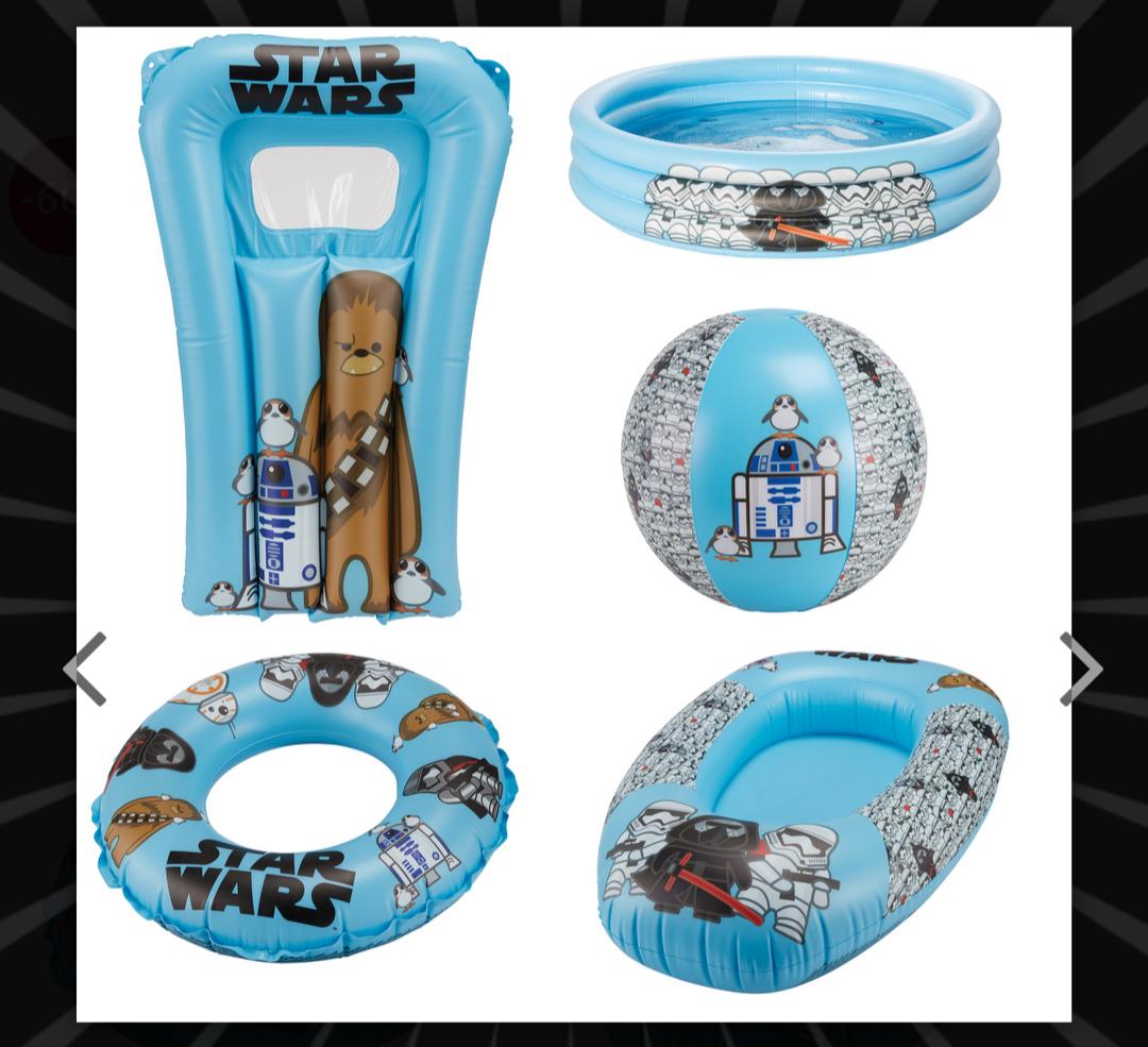 [DealClub]5 tlg. Happy People Wasserspiel Set Star Wars Strandset Kinder-Pool Kinder-Boot Wasserball