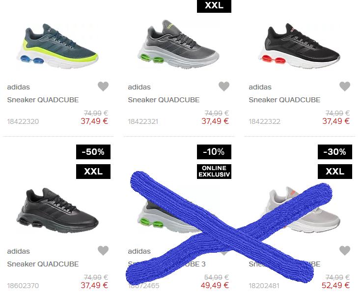 Adidas Schuh Quadcube in 4 Farben