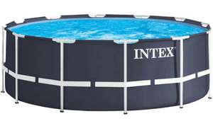 Intex Stahlrahmen-Pool (366 x 122 cm, Navy Blue, 10.685 L)