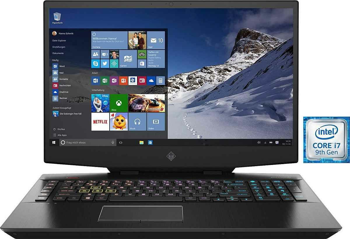 HP Omen 17-cb0262ng Gaming-Notebook 43,9 cm/17,3 Zoll, i7 9750H, GeForce RTX™ 2070, 16GB RAM 1000 GB SSD Win 10