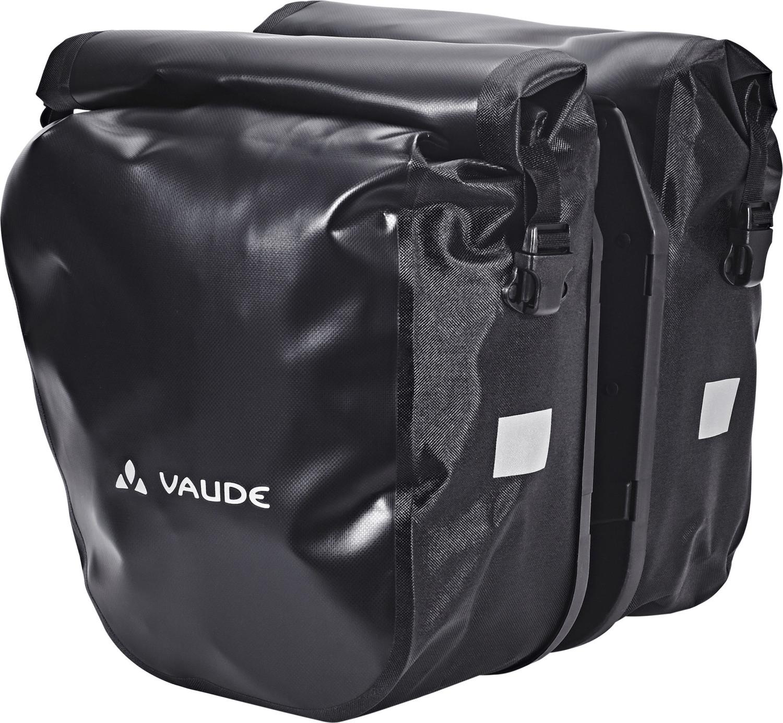 Vaude SE Back Pannier 2 Fahrradtasche (zwei Gepäckträgertaschen mit Klicksystem, 46l Gesamtvolumen, wasserdicht, 43x34x16cm)