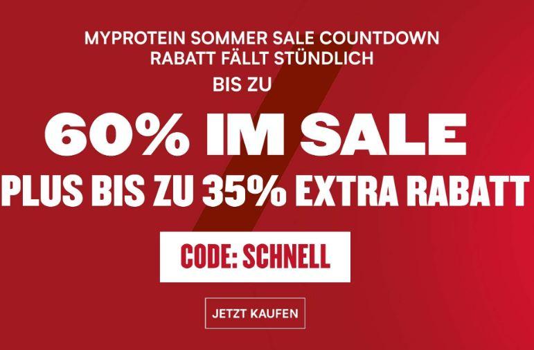 Sport-Freunde! 60% auf ausgewählte Produkte bei Myprotein: z.B. 5kg Impact Whey Protein Banane - 44,85€ | 1kg Creatin Mono - 8,63€