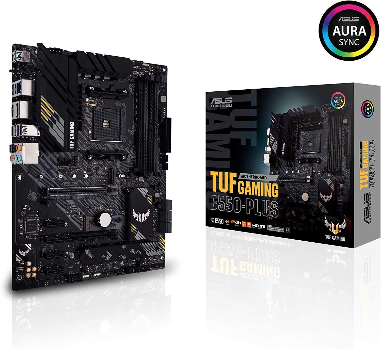 ASUS TUF Gaming B550-Plus Mainboard AM4 (ATX, Ryzen, PCIe 4.0, 2x M.2, 2Gbit/s Ethernet, SATA 6Gbit/s, USB 3.2, Aura Sync)