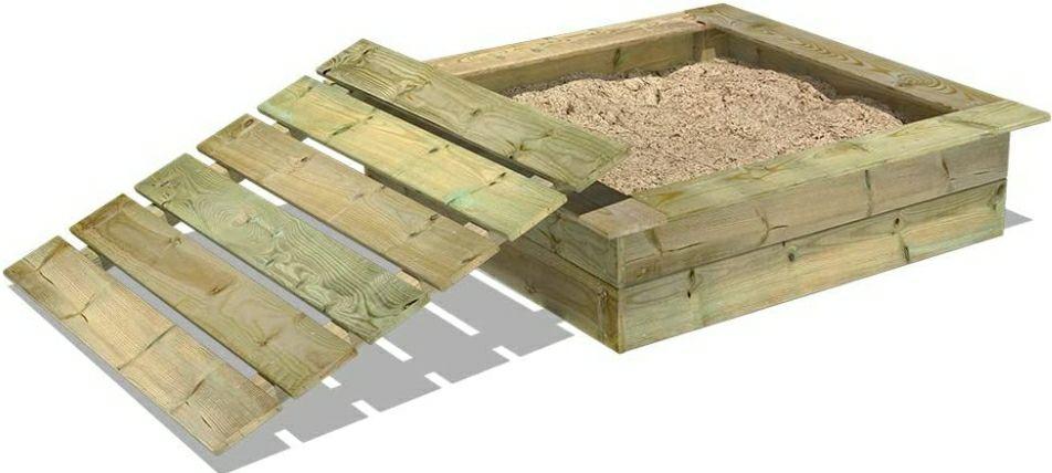 WICKEY Sandkasten King Kong 120x120 cm mit Deckel