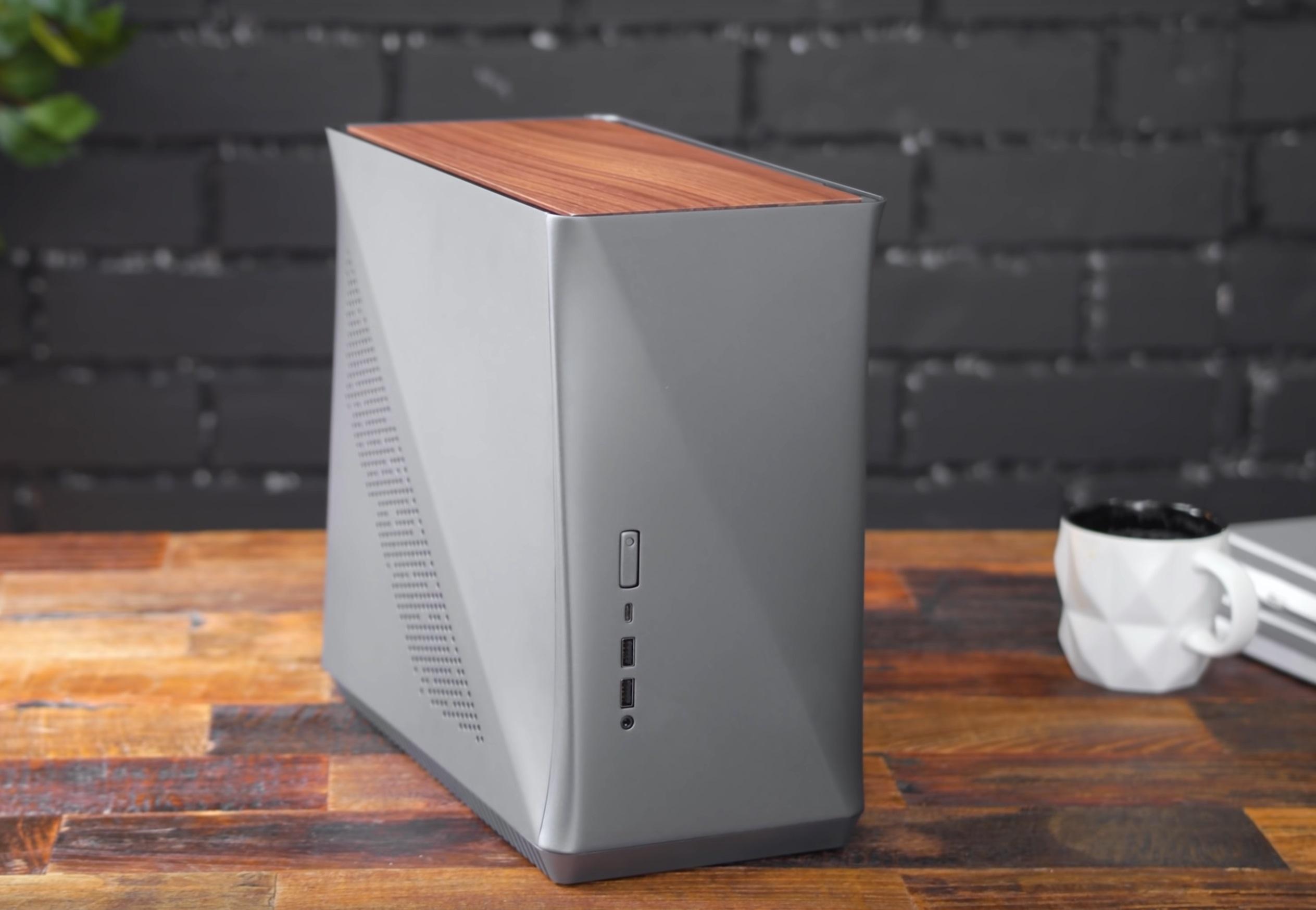 Fractal Design Era ITX Titanium Gray - Walnut | PC-Gehäuse