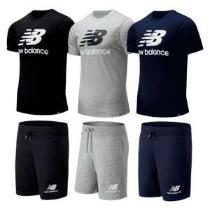 New Balance Sommer Outfit 2-teilig // New Balance Shirt Essential Stacked Logo + New Balance Short Essentials Stacked Logo