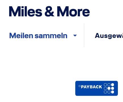 PAYBACK automatisch in Meilen umwandeln (+1500M)