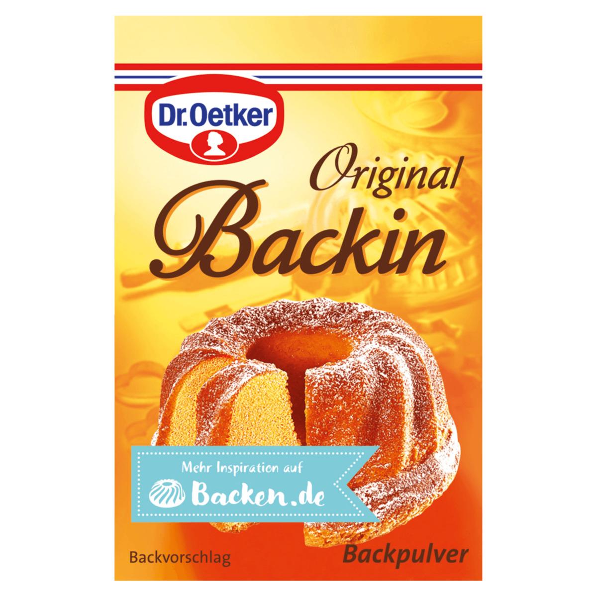 Dr. Oetker Backzutaten: Original Backin / Vanille Zucker / Vanillin Zucker für nur 0,66€ ab 21.08. [ALDI-NORD]