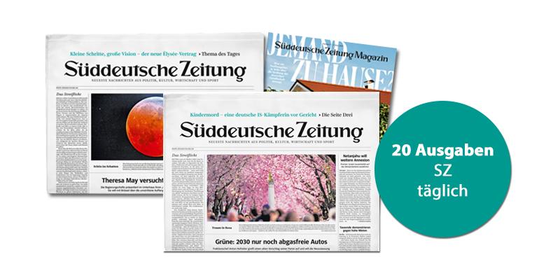 Süddeutsche Zeitung - 20 Ausgaben für 20 €