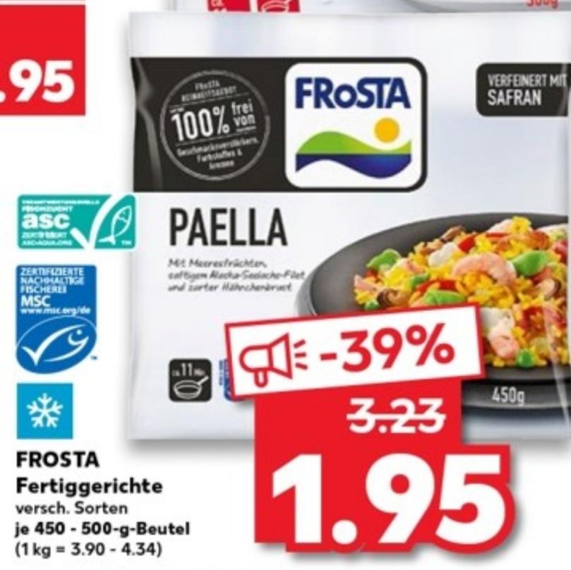 FROSTA Fertiggerichte versch. Sorten 500g Beutel für 1,95€ [Kaufland]
