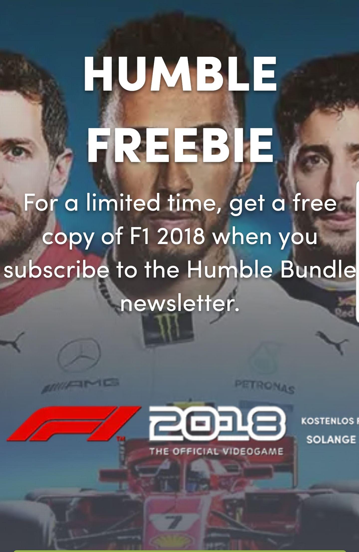 [Humble Bundle] F1 2018 für Steam Gratis