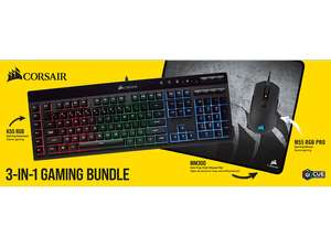 CORSAIR 3in1 Gaming Bundle (K55, M55, MM300)