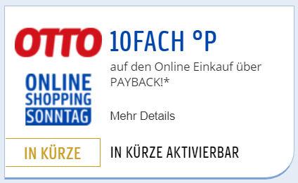 10-fach Payback Punkte bei OTTO am Sonntag