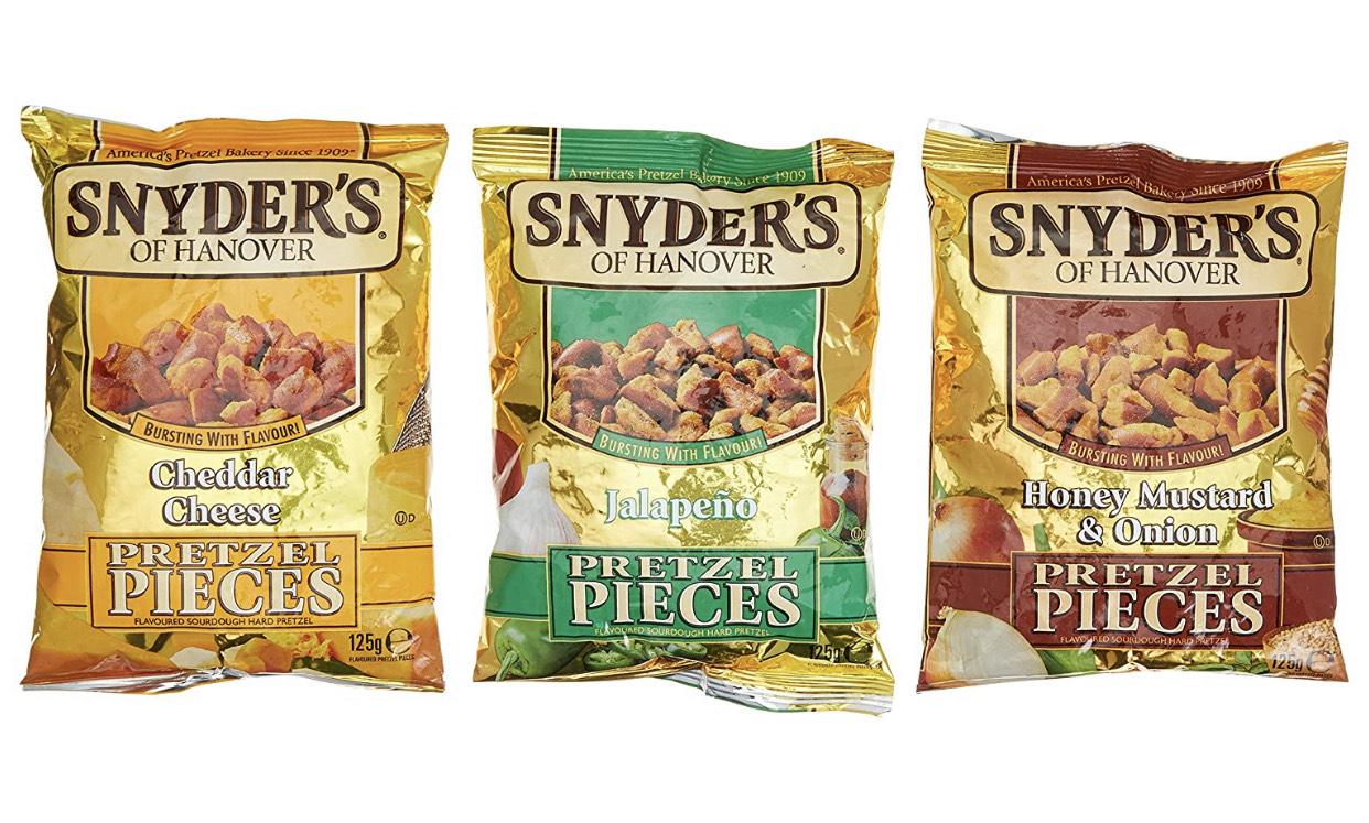 NUR NOCH HEUTE! Snyder's of Hanover Pretzel Pieces versch. Sorten 125g für nur 1,27 € bis 12.08. [Kaufland]