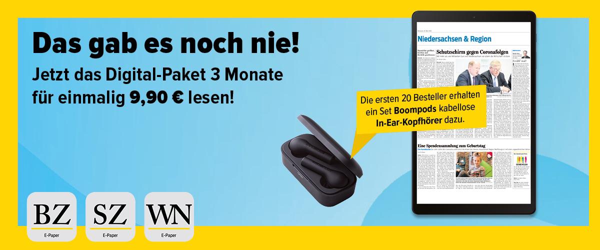 3 Monate Braunschweiger Zeitung (digital) - Kündigung nötig
