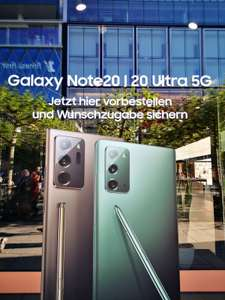 SamsungZeil FLAGSHIP STORE IN FRANKFURT ZEIL - Samsung Galaxy Note20 Ultra + Galaxy Buds Live + 3 Monate Gamepass + 4 Monate YoutubePremium