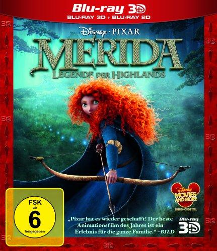 Merida - Legende der Highlands 3D (Blu-ray 3D + Blu-ray) für 7,99€ (Amazon Prime)