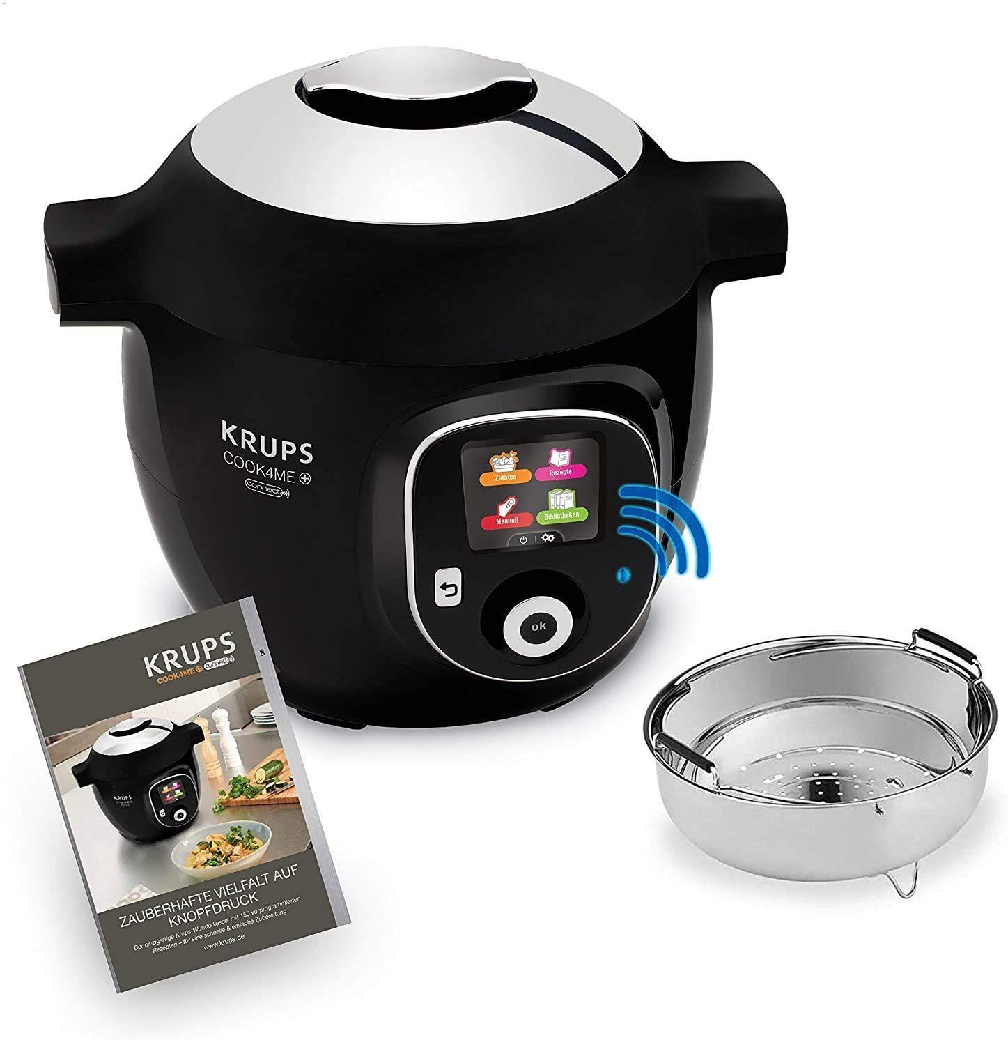 Krups CZ7158 Cook4Me+ Connect Multikocher (1600 Watt, elektrischer Schnellkochtopf, Bluetooth Steuerung, 4 Liter) [Amazon]