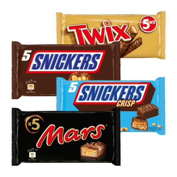 5x TWIX, Snickers, Mars für nur 1,44€ ab 17.08. [ALDI-NORD + SÜD]
